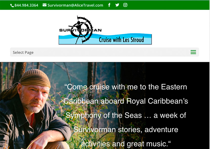 Survivorman Caribbean Cruise